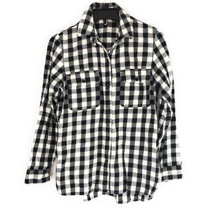 Madewell Buffalo Plaid Gingham Button Up Small